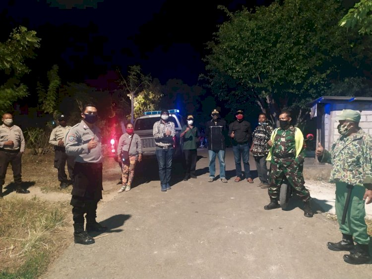 Personrl Polsek Alak Bersama Tim Satgas Percepatan Penanganan Covid-19 dari Kelurahan Manutapen Berikan Imbauan cegah Virus Corona