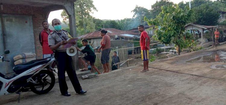 Bhabinkamtibmas Polsek Nita Beri Himbauan Kepada Warga Binaannya Guna Mencegah Virus Corona