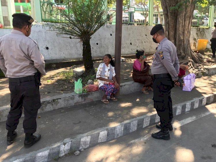 Kasat Sabhara Polres Ende Pimpin Patroli Cegah Covid-19 di Seputaran Kota Ende