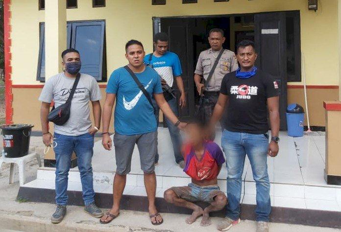 Kurang dari 24 Jam, Kapolsek Amanatun Selatan bersama Anggota Berhasil Tangkap Pelaku Anak Bunuh Ayah Kandung