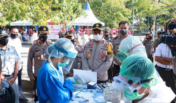 Dalam Rangka Hari Bhayangkara ke-74, Polda NTT Gelar Rapid Test dan Pengurusan SIM Gratis