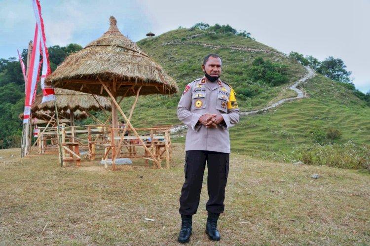 Peduli Pariwisata, Ditsamapta Polda NTT Bangun Spot Pariwisata Baru di Amfoang Selatan Guna Mendukung Perekonomian Masyarakat