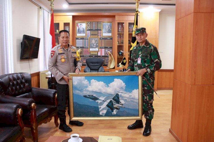 Kapolda NTT Terima Kunjungan Silaturahmi Dari Danlanud Eltari Kupang
