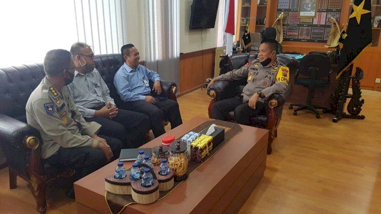 Kapolda NTT Terima Kunjungan Silaturahmi Pimpinan Bank BRI Cabang Kupang