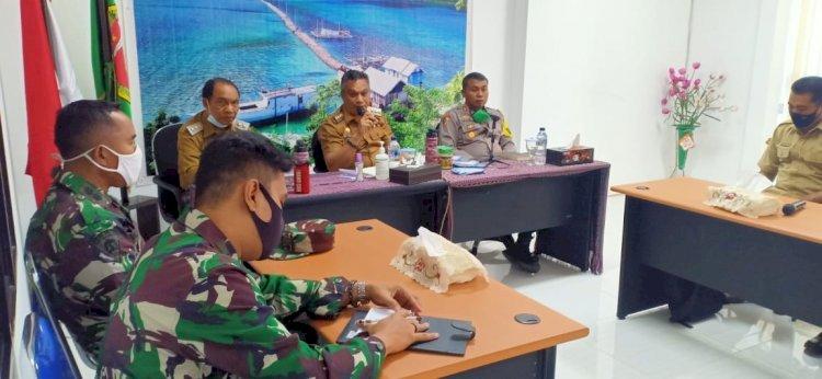 Kapolres Dampingi Bupati Sikka Pimpin Rapat Terkait Masalah Tanah Kawasan Hutan Lindung Di Bendungan Waigete