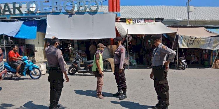 Satsabhara Polres Kupang Kota Patroli Pencegahan Corona dan Sosialisasi New Normal