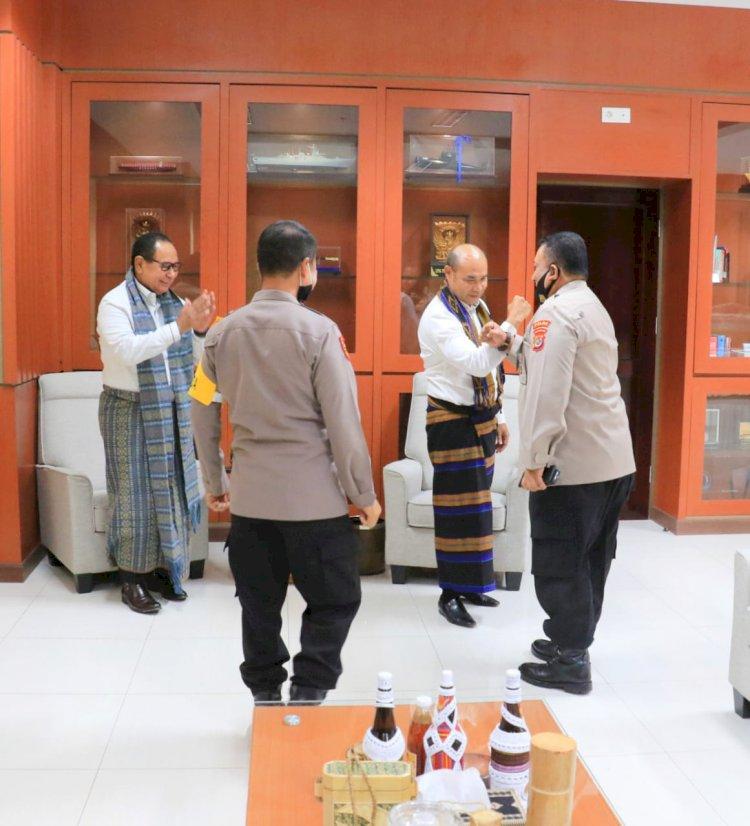 Awali Tugas di NTT, Wakapolda NTT Silahturahmi ke Kantor Gubernur NTT