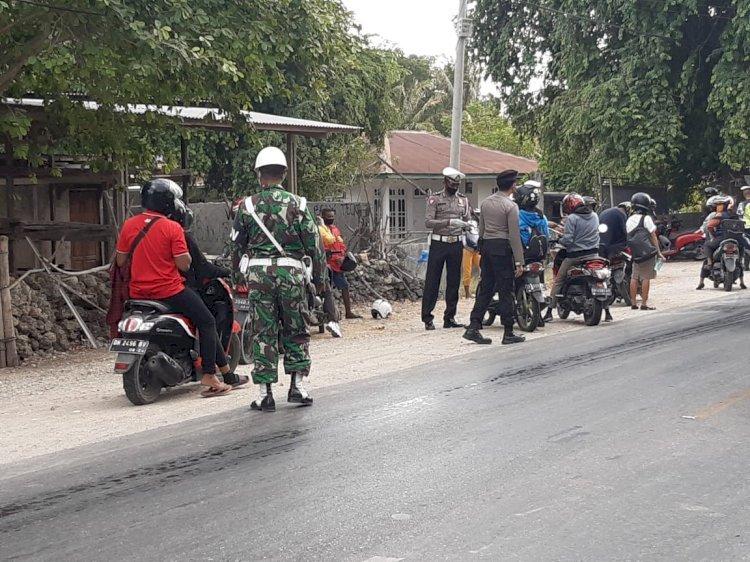 Operasi Patuh Turangga 2020 Polres Kupang Melibatkan Personil Kodim 1604 Kupang