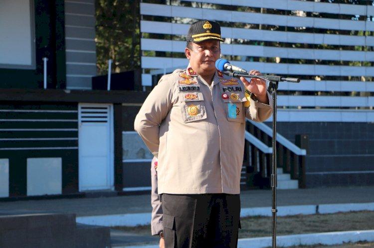 Pimpin Apel Pagi Perdana, Wakapolda NTT Minta Anggota Jaga Kekompakan