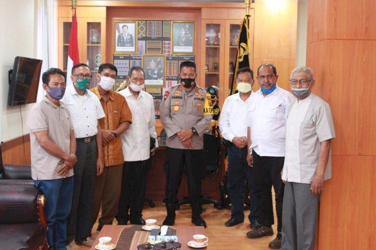Kapolda NTT Terima Kunjungan Silaturahmi dari Pengurus Dewan Masjid Kota Kupang