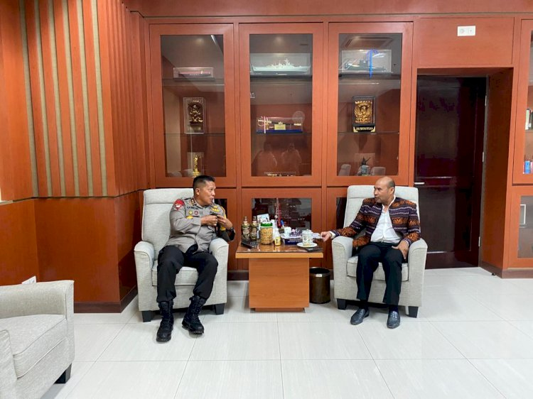Silaturahmi ke Kantor Gubernur NTT, Kapolda NTT Pamitan