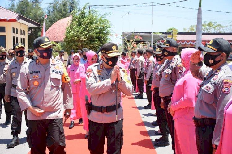 Kunker ke Polres Kupang, Kapolda NTT Disambut Hangat Anggota