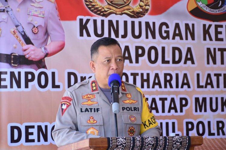 Tatap Muka dengan Personel Polres Kupang, Kapolda NTT Minta Anggota Jangan Sakiti Hati Masyarakat