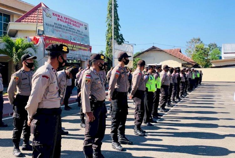 Genderang Pilkada 2020 Dimulai, Kepolisian Resor Belu Turun Penuh Amankan Pendaftaran Paslon Bupati Belu