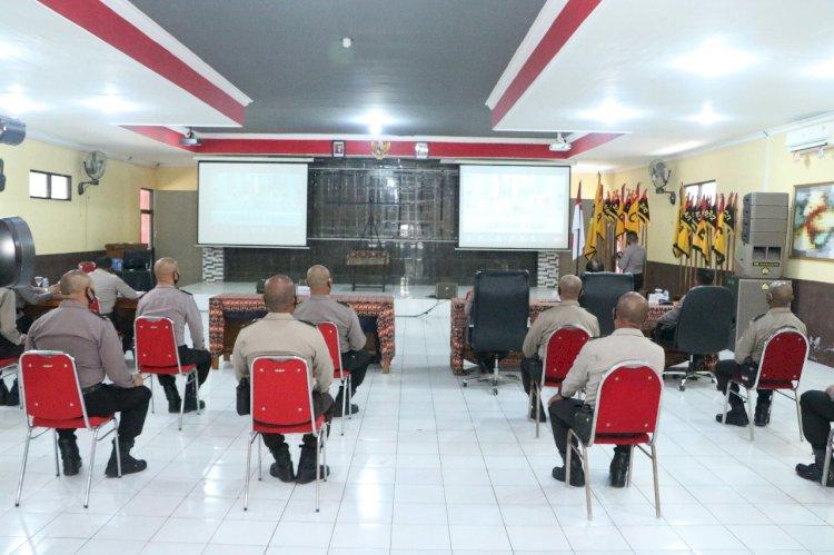 SPN Polda NTT Gelar Upacara Pembukaan Pendidikan Alih Golongan dari Bintara ke Perwira T.A. 2020 Secara Virtual yang Dipusatkan di Lemdiklat Polri