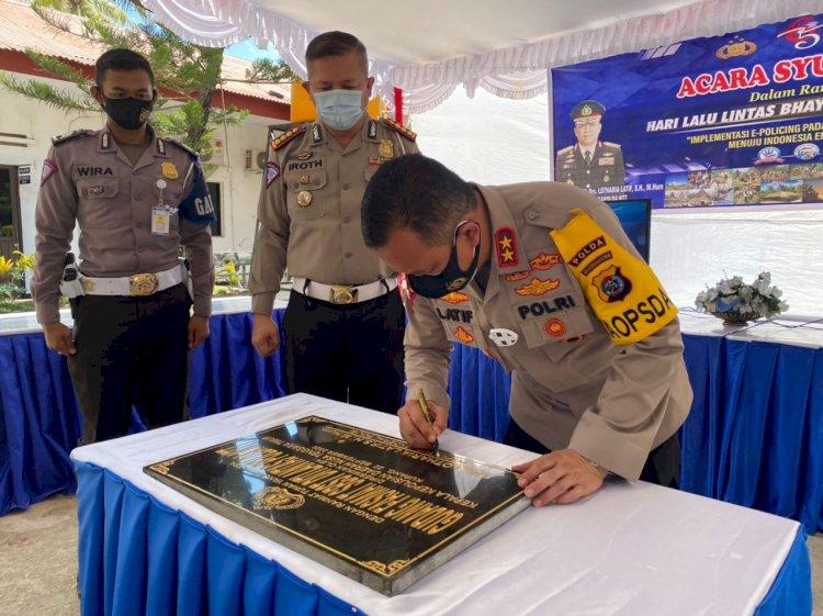 Di HUT Lantas Bhayangkara ke-65, Kapolda NTT Resmikan Gedung Fasmat SBST Ditlantas Polda NTT