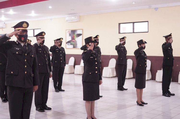 SPN Polda NTT Gelar Upacara Penutupan Sekolah Pembentukan Perwira Polri Angkatan 49 T.A. 2020 Secara Virtual di Lemdiklat Polri