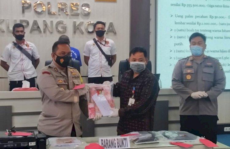 Unit Reskrim Polsek Kelapa Lima Berhasil Ungkap Kasus Pemalsuan Uang Sebanyak 353 Juta Rupiah Lebih di Wilayah Kota Kupang