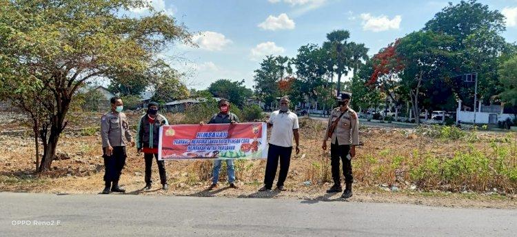 Antisipasi Karhutla, Satbinmas Polres Kupang Kota Laksanakan Operasi Bina Karungga 2020