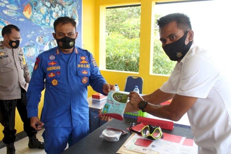 Direktorat Polairud Polda NTT amankan pelaku penangkapan ikan dengan bahan kimia