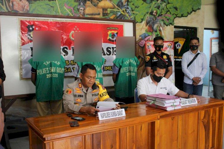 Kapolres Sumba Barat Gelar Press Release Kasus Tindak Pidana Korupsi ADD