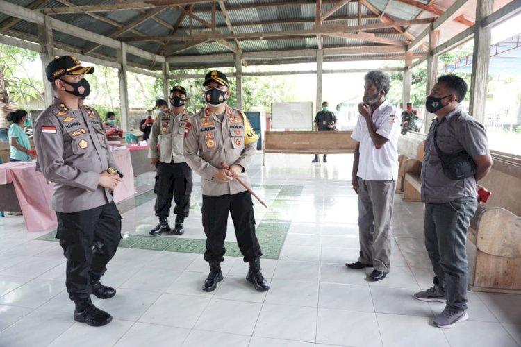 Kapolda NTT Cek Kesiapan TPS di Wilayah Sumba Timur