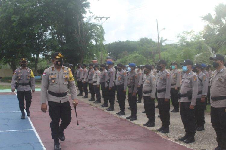 Pimpin Apel Gelar Pasukan Pengamanan Pilkades, Kapolres Rote Ndao : Laksanakan Tugas Mulia Ini Dengan Rasa Tanggung Jawab