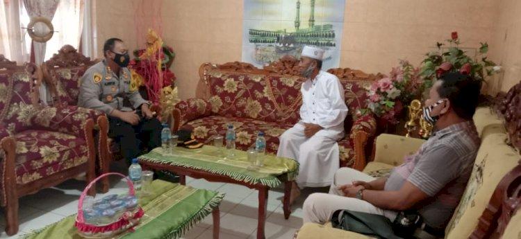 Jalin Silaturahmi Dengan Tokoh Agama, Kapolres Ende Ajak Bersama Ciptakan Kamtibmas dan Penerapan Prokes