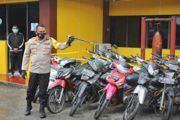 Awal Tahun 2021, Polres Sumba Barat Berhasil Ungkap Kasus Pencurian 12 Unit Sepeda Motor