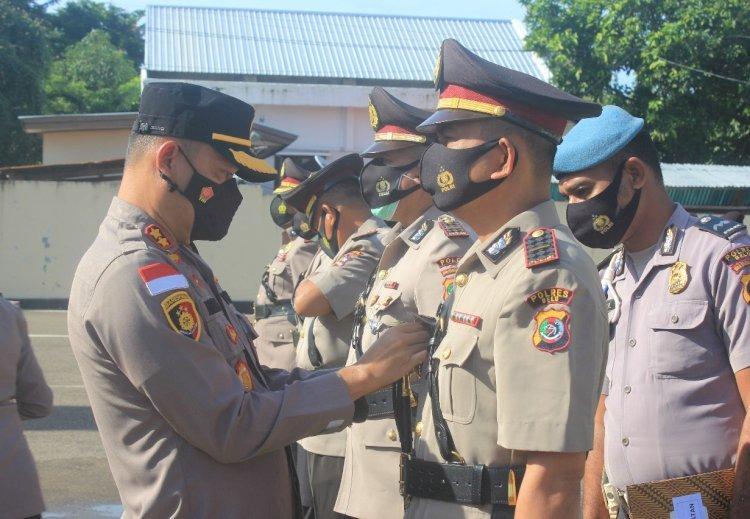 Kapolres Belu AKBP Khairul Saleh Pimpin Sertijab Wakapolres, Kasat Binmas dan Kapolsek Raimanuk