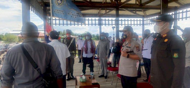 Kapolres Lembata Hadiri Kegiatan Penyerahan Panji Liga III ETMC di Wulen Luo