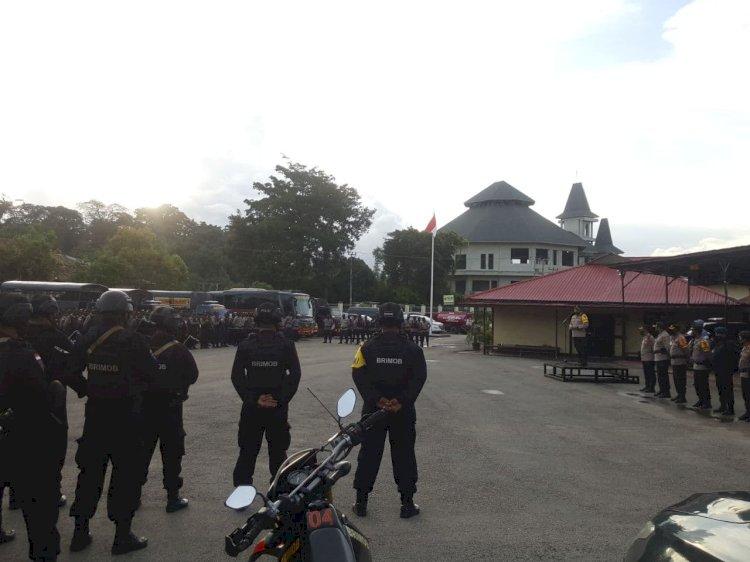 Jelang Putusan MK, Kapolres Sumba Barat Sambut 170 Pasukan BKO Polres & BKO Brimob