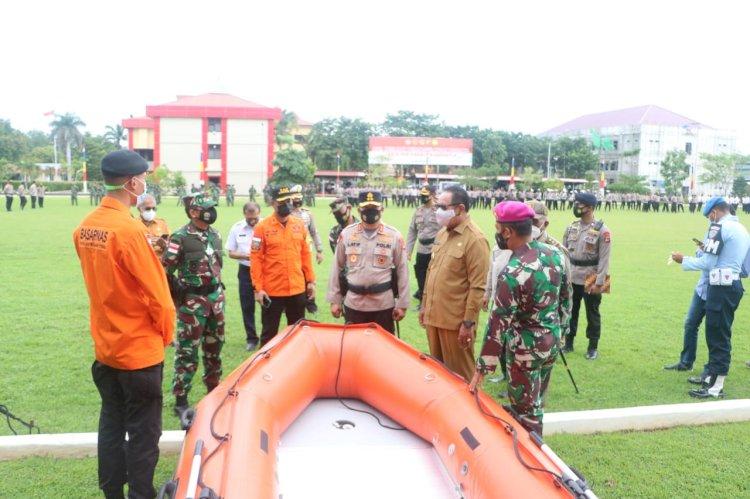 Antisipasi Bencana Alam dan Karhutla, Polda NTT Gelar Apel Pasukan Gabungan Kesiapsiagaan