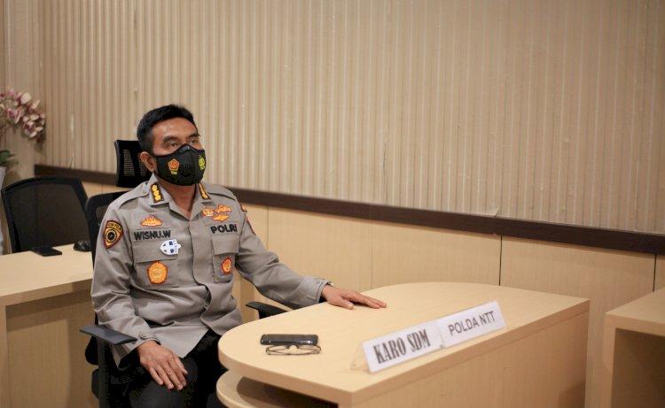 Kesiapan Penerimaan Terpadu Anggota Polri T.A. 2021, Karo SDM Polda NTT Gelar Rapat Bersama Para Kabagsumda Polres Jajaran