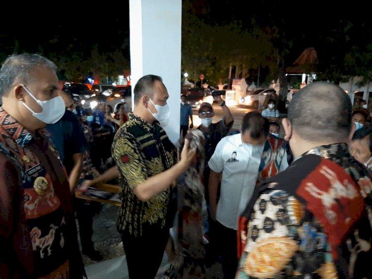 Kapolres Sumba Timur Turut Sambut Kedatangan Ketua DPD RI di Gedung Nasional Umbu Tipuk Marisi