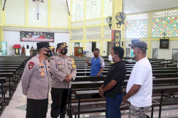 Jelang Perayaan Paskah 2021, Kapolda NTT Cek Pengamanan Gereja di Kota Kupang