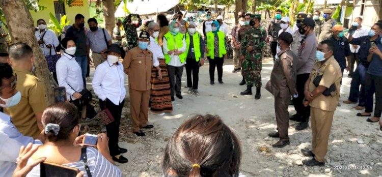 Kapolres Kupang Dampingi Kunjungan Kerja Menko PMK dan Menteri PP dan PA