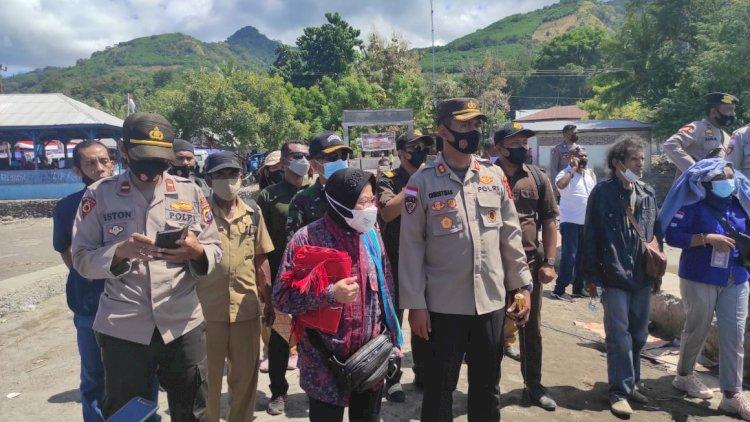 Kapolres Alor Dampingi Kunjungan Kerja Menko PMK RI dan Menteri Sosial RI