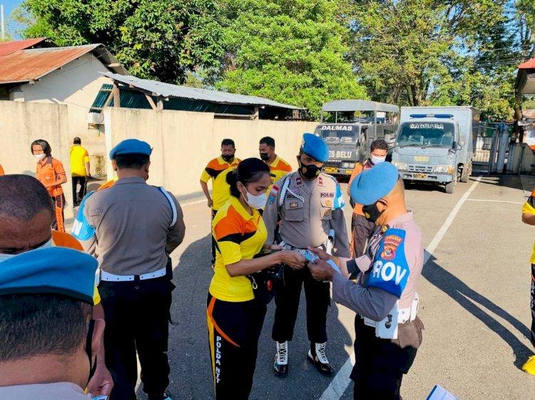 Supervisi ke Polres Belu, Bidpropam Polda NTT Gelar Gaktiblin Bagi Anggota dan ASN Polri