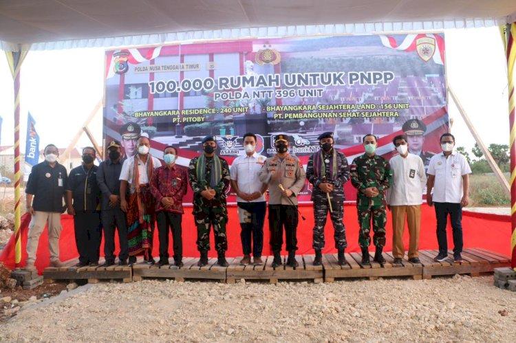 Serentak, Kapolda NTT Launching Seratus Ribu Rumah Bagi Pegawai Negeri Pada Polri