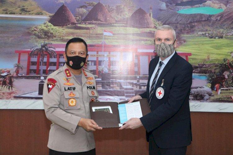 Kapolda NTT Dialog Dengan ICRC Untuk Giat Bantuan Kemanusiaan dan Penanganan Covid-19 di NTT