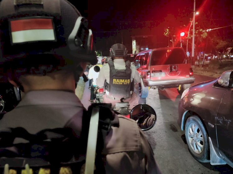 Antisipasi Kejahatan Terutama Aksi Premanisme dan Pungli, Raimas Ditsamapta Polda NTT Tingkatkan Kegiatan Patroli