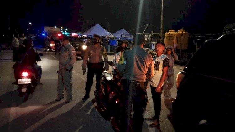 Patroli Gabungan Penerapan Prokes di Wilkum Polda NTT, Polisi Berikan Teguran Keras Pada Warga Yang Melanggar