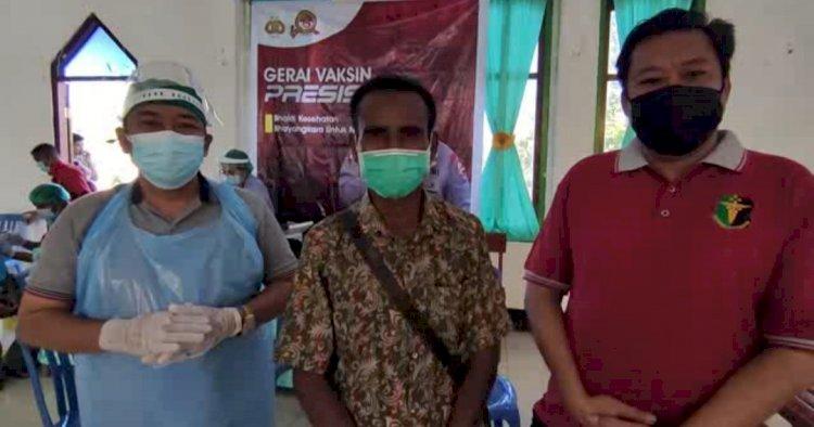Rev@co Biddokkes Polda NTTKembali Datangi Desa Oh'aem Amfoang Selatan Berikan Vaksin Tahap 2