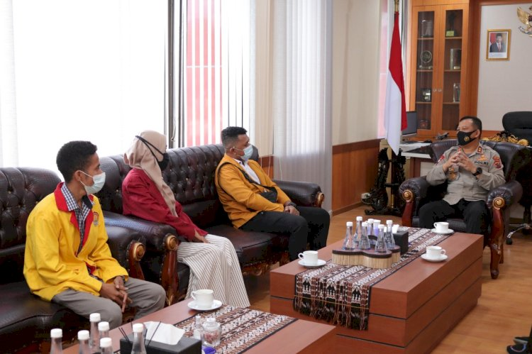 Silaturahmi dengan BEM Nusantara, Kapolda NTT Ajak Mahasiswa Bersama Dalam Penanganan Covid-19