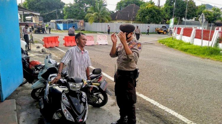 Lewat Patroli Dialogis, Sat Sabhara Polres Ende Ajak Masyarakat Lebih Disiplin Terapkan Protokol Kesehatan