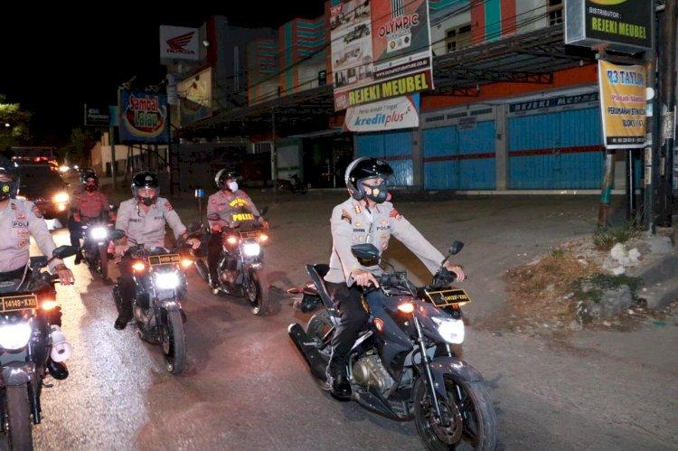 Cegah Takbir Keliling Malam Idul Adha dan Kerumunan, Ditsamapta Polda NTT Gelar Patroli di Kota Kupang
