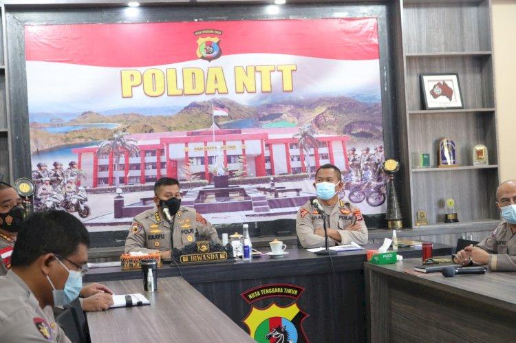 Pimpin Rapat Anev Mingguan, Irwasda Polda NTT Minta Polres Jajaran Bantu Tiga Polres yang wilayahnya Diberlakukan PPKM level 4
