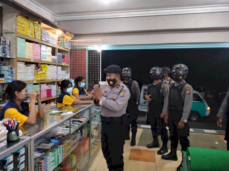 Diterapkannya PPKM Level IV di Kota Kupang, Ditsamapta Polda NTT Gencarkan Patroli malam