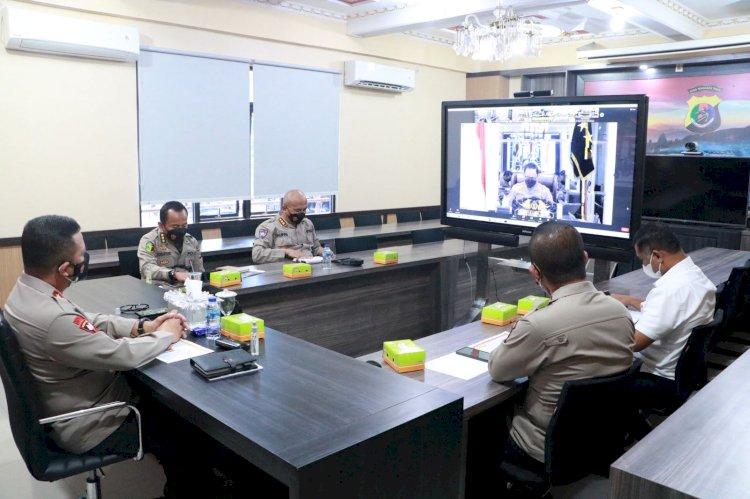 Kapolda NTT Ikuti Zoom Meeting Bersama Wakapolri Terkait Anev Pelaksanaan Vaksinasi Covid-19